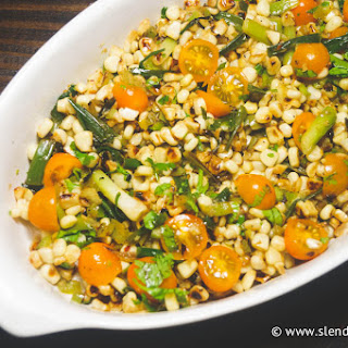 Charred Corn, Scallion, and Tomato Salad
