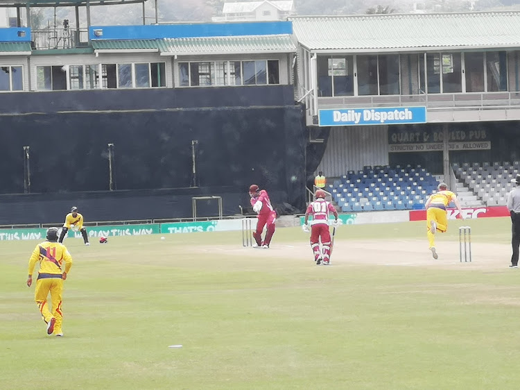 Shane Dadswell (batting) in action for North West against Gauteng during theiur Africa Cup T20 semifinal at Buffalo Park on Sunday morning.