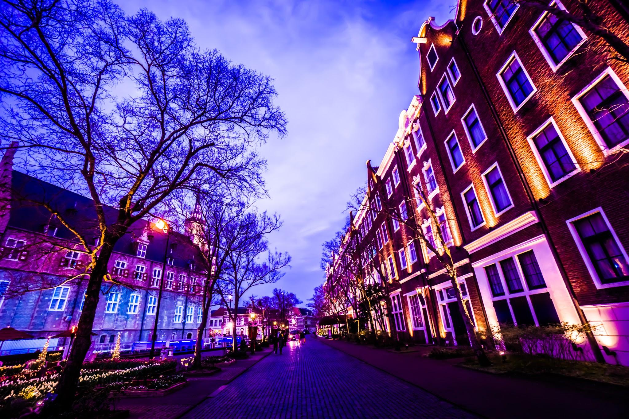 ハウステンボス イルミネーション 光の王国 アムステルダムシティ3