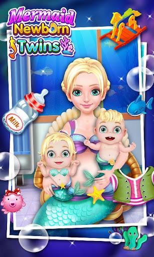 マーメイド新生児ツインズベビーケア - 無料女の子ゲーム