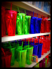 Photo: Might have to go back for these colorful tumblers- they scream summertime!