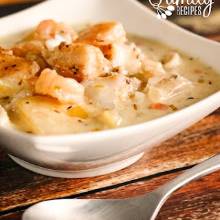Thick and Hearty Seafood Chowder.