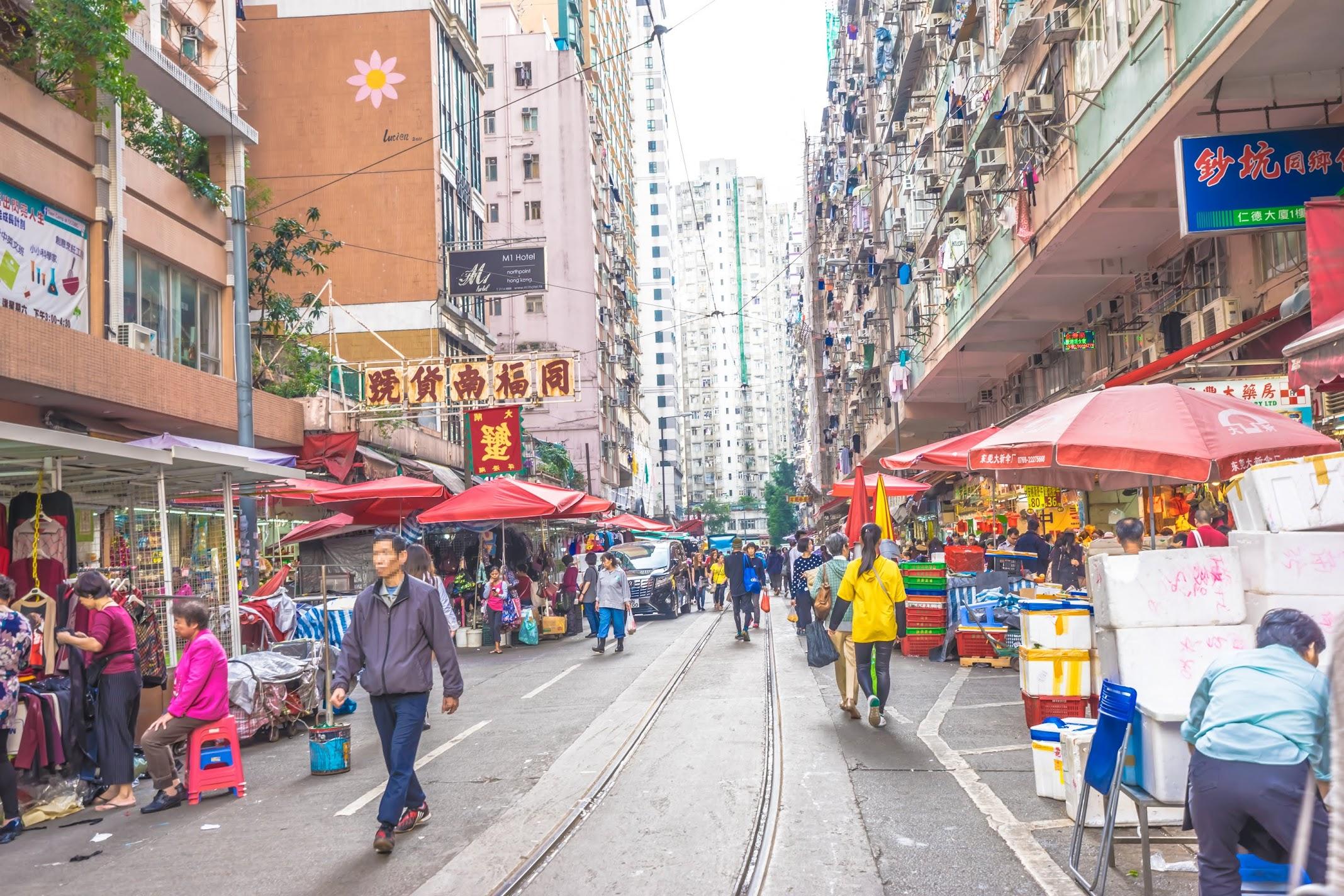 香港 春秧街マーケット1