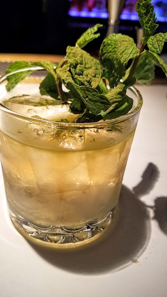 Barlow PDX cocktail for October 2016 of Ghost World with apple and mint and Japanese whiskey choice of either Suntory Toki or Nikka Coffey Grain