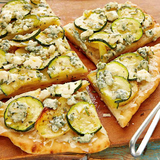 Zucchini and Potato Rosemary Pizza.