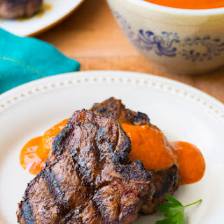 Grilled Lamb Chops with Ranchero Sauce