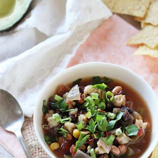 Slow Cooker Vegetarian Tortilla Soup