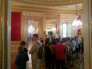 Photo: The line to see the Throne Room. Ugh.