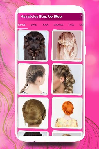 Hairstyles Step by Step DIY  screenshots 1