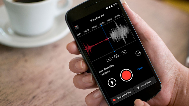 MP3 Voice Recorder Android App Screenshot