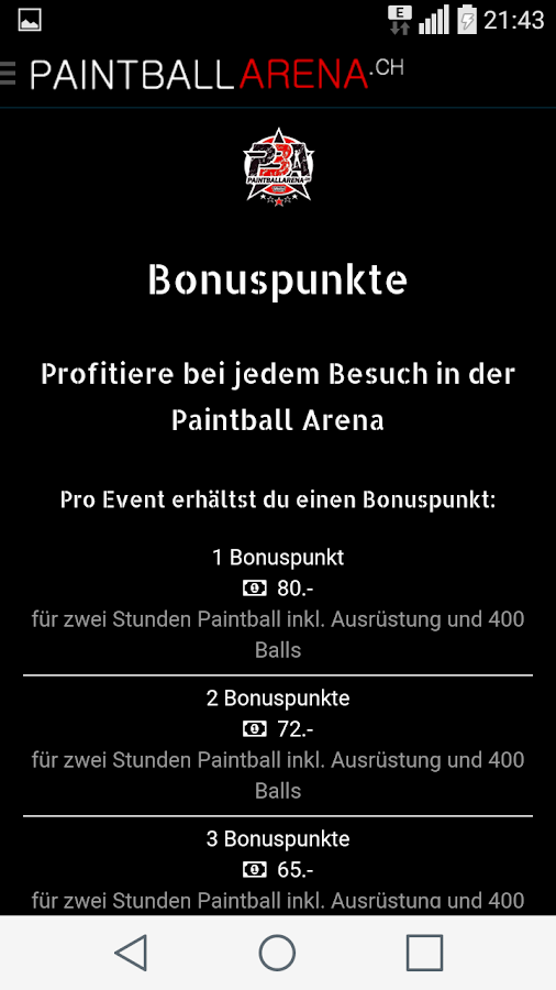 Paintball Arena App- screenshot