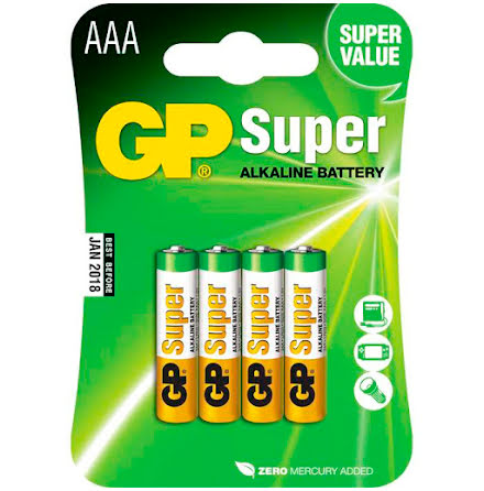 Batteri GP Super AAA/LR03 40fp