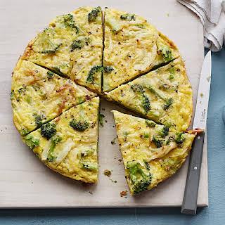 Broccoli and Cheddar Frittata.
