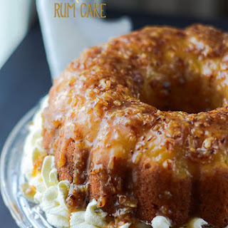 Pina Colada Rum Cake.