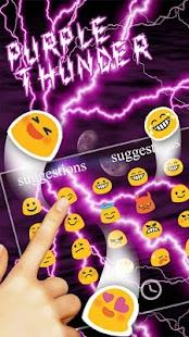 Purple Thunder Light Keyboard - náhled