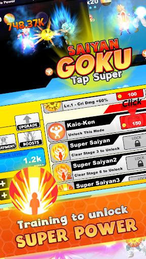 Saiyan Goku Tap Super Z  screenshots 4