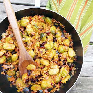 Brussels Sprouts with Bacon and Cranberries