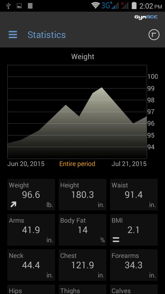 GymACE Pro: Workout Tracker & Body Log Screenshot 7