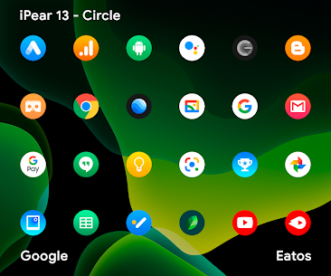 iPear 13 – Round Icon Pack v1.0.7 [Patched] 2
