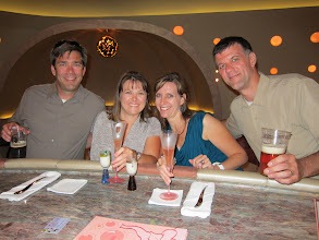 Photo: The Champagne Bar of the Disney Dream with the Baers