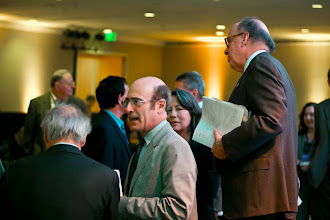Photo: Robert Lempert talks to a participant during the RAND Politics Aside event. The event was in Santa Monica, Calif. from Nov. 15-17, 2012.