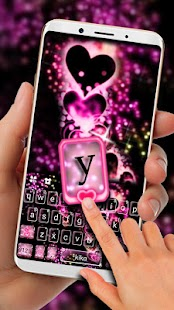 Sparkling Love Keyboard Theme - náhled
