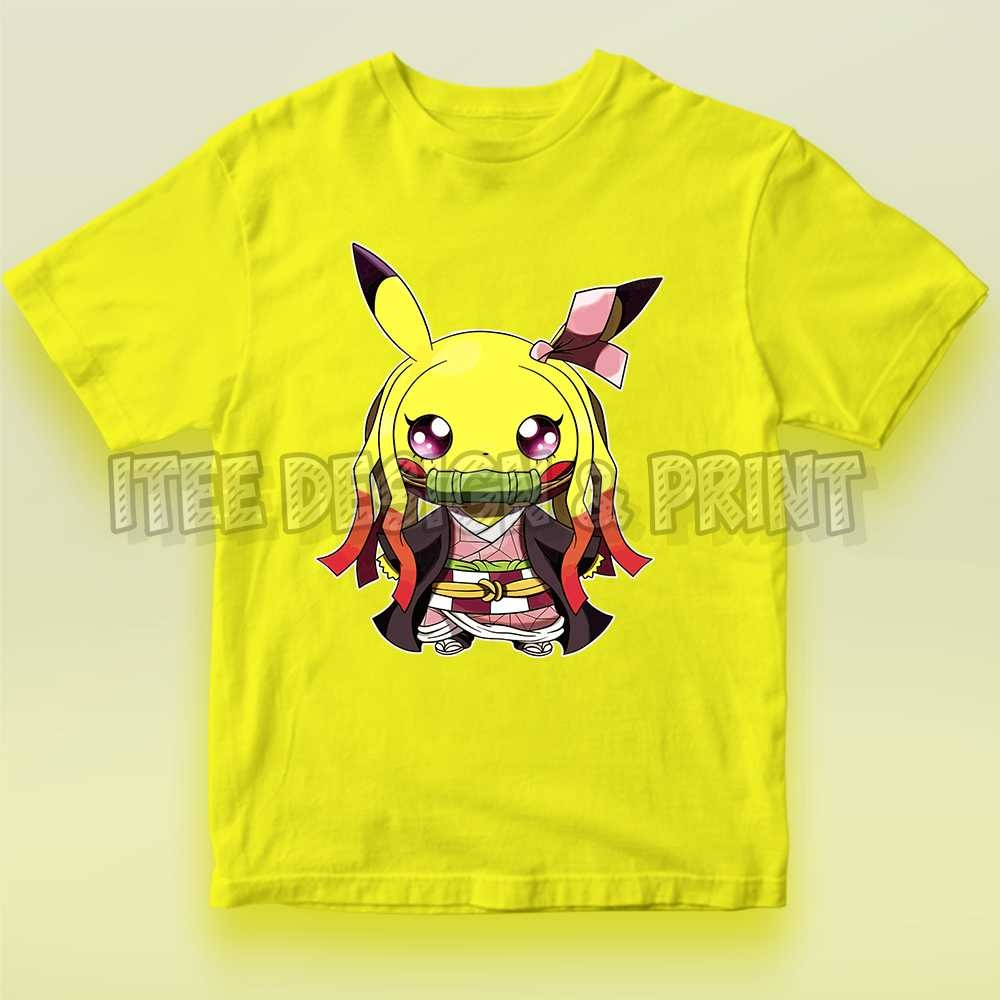 Cute Demon Slayer Nezuko Kamado Pikachu