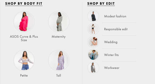 example from asos
