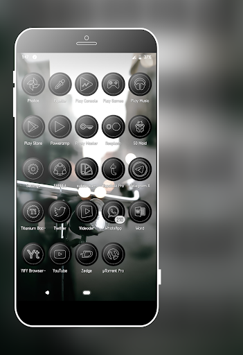 Screenshot for Nepal Black Icons Pack in United States Play Store