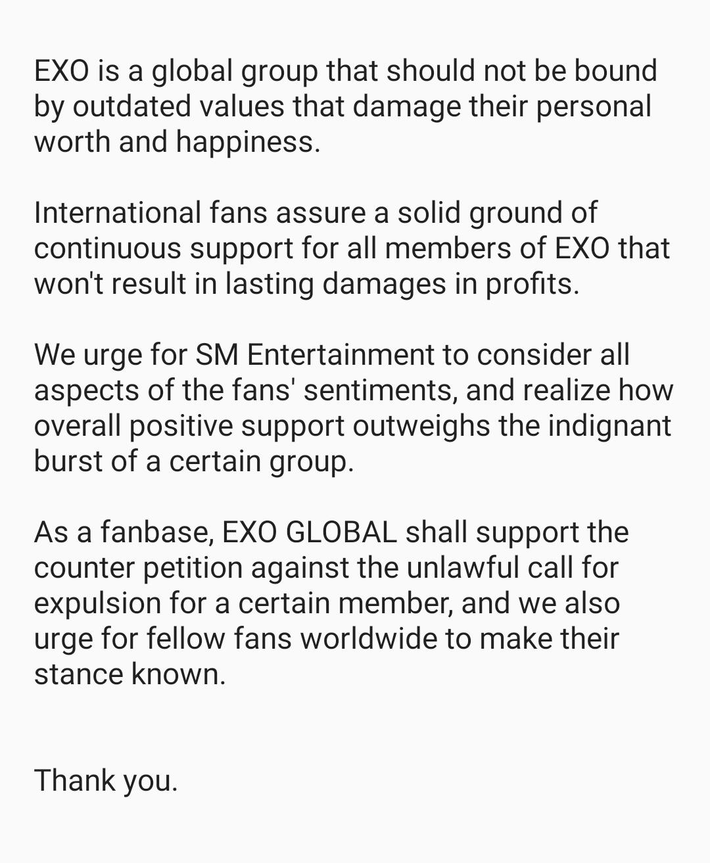 exo global statement 2
