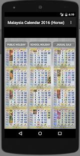Malaysia Calendar 2018 (Horse) - náhled