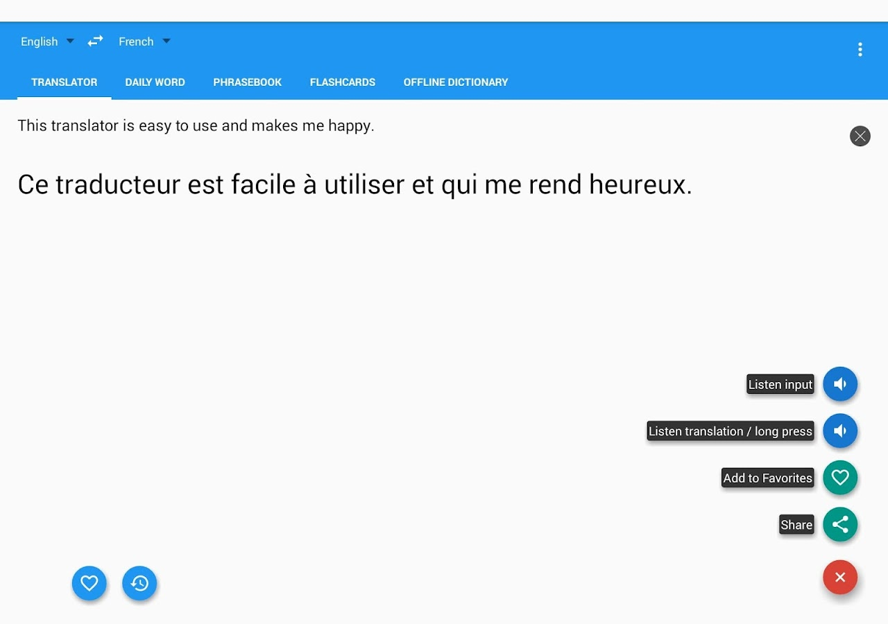 Bedroom english french dictionary wordreference com - French English Translator Free Screenshot