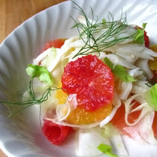 Crab and Citrus Salad with Verjus Vinaigrette.