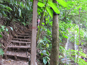 Photo: Old and new staircases to the La Fortuna waterfall
