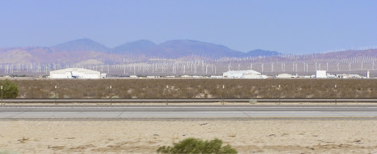 Photo: Wind Farm behind the Mojave Airport