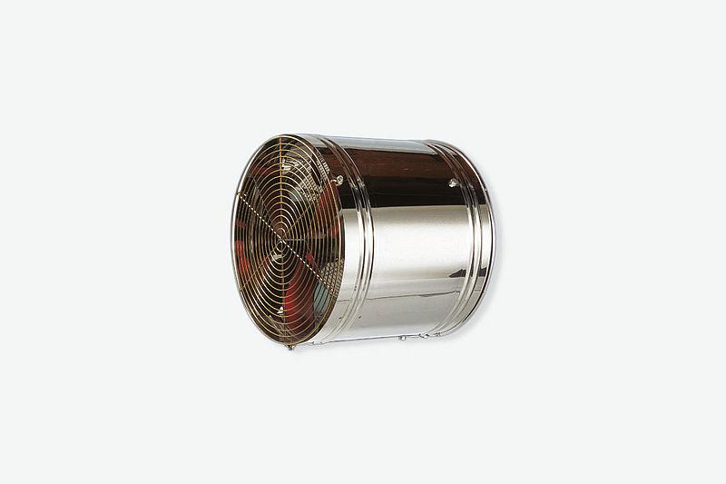 Recirkuliacinis ventiliatorius šiltam oro paskirstymui paukštidėse