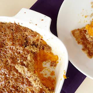 Mashed Sweet Potato Brulée.
