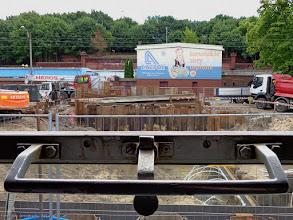 Photo: Budowa przejścia podziemnego (widok z okna wagonu B10ou) {Toruń Główny; 2014-07-13}