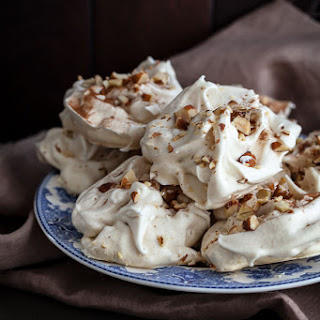 Maple Cinnamon Meringue Cookie Recipe with Salted Toasted Almonds