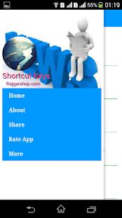 Shortcut Keys - náhled