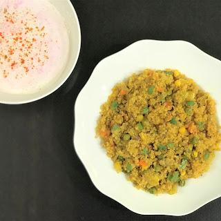 Quinoa & Vegetable Pilaf- Instant Pot Pressure Cooker.