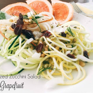 Fresh And Convenient The Spiralized Zucchini Salad With Grapefruit Vinaigrette