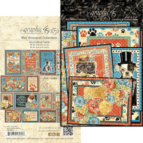 Graphic 45 Ephemera & Journaling Cards - Well Groomed
