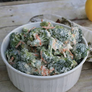 Low Fat Greek Yogurt Broccoli Salad.