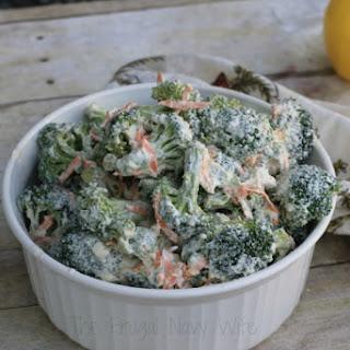 Low Fat Greek Yogurt Broccoli Salad.