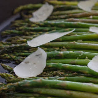 Sautéed Asparagus with Shaved Parmesan.