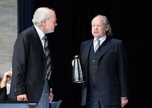 """Photo: WIEN/ Theater in der Josefstadt: """"VOR SONNENUNTERGANG"""" von Gerhard Hauptmann. Premiere 3.9.2015. Michael König, Alexander Waechter. Copyright: Barbara Zeininger"""
