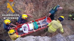 Rescate del senderista en Bayarque.