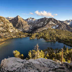 High Sierra Vista by Evver Gonzalez - Landscapes Mountains & Hills ( landscape photography, mountains, evver g photo, trekking, sony alpha, eastern sierra, inyo, kearsarge pass, summer, kearsarge lakes, onion valley, california, sequoia national park, glacier, alpine lake, inyo national forest, kings canyon, golden light, american west, john muir trail, hiking, wild camping, granite, high sierra, alpine, backpacking, sierra nevada, lake, landscape )
