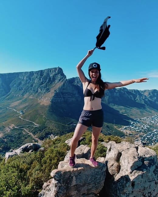 Mrs Deaf SA Tracy Duncan, an avid hiker, says keeping fit is vital for self-confidence.